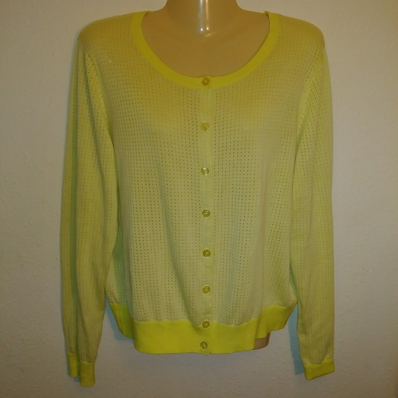 878ab459207 CAbi Sweaters   Style 706 Daffodil Summer Cardigan Size Xl   Poshmark